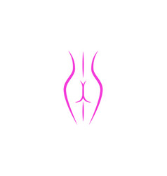 beautiful slim lady figure of the logo in delicate vector image