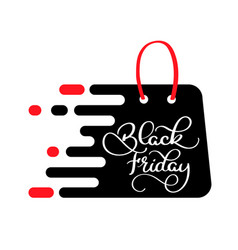 black friday sale inscription on the package vector image