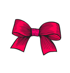 Bow isolated on white vector