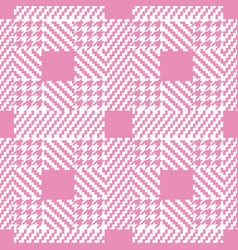 check pink fashion seamless pattern vector image