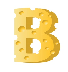 cheese letter B vector image