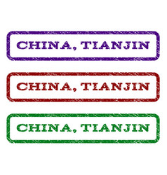 China tianjin watermark stamp vector