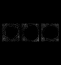 Cobweb frames set vector