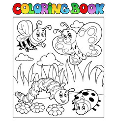 Coloring book bugs theme image 2 vector