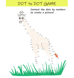 connect dots numbers to reveal giraffe vector image