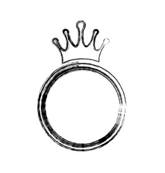 crown royalty symbol vector image