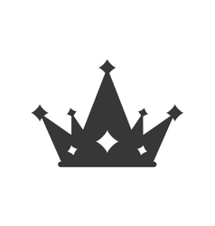 crown silhouette royal king icon vector image