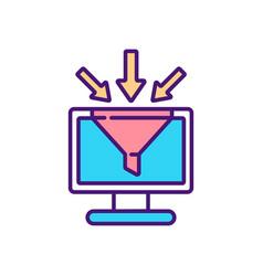 data storage rgb color icon vector image