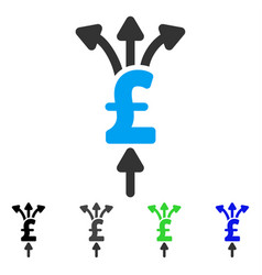 Divide pound payments flat icon vector