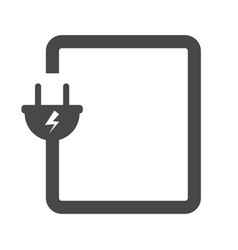Electrical power plug icon for applications vector