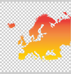 Europe map colorful orange vector
