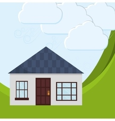Family House Home icon landscape vector