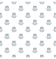 fireplace pattern seamless vector image
