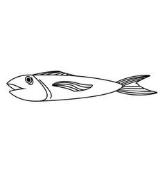 Fish food icon vector