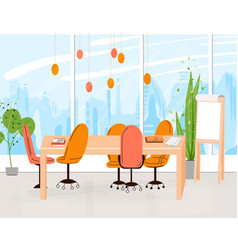 flat collection creative workplace with vector image