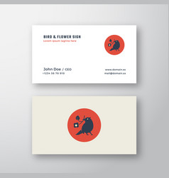 flat style abstract logo and business card vector image