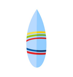 flat surfboard icon isolated vector image