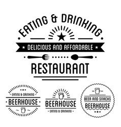 food and drink restaurant and pub isolated icons vector image