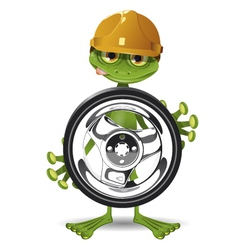 Frog and the wheel vector