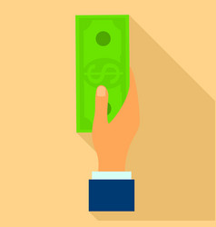 give money icon flat style vector image