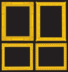 Gold picture frames vector