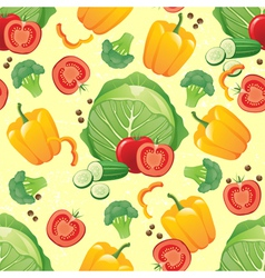 Green vegetables seamless vector