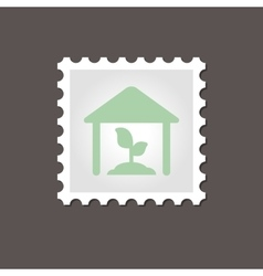 Greenhouse stamp Outline vector