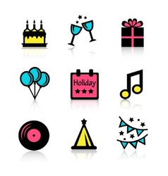 holidays icons set vector image