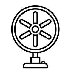 home fan icon outline style vector image