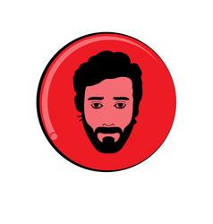 Human face logo vector