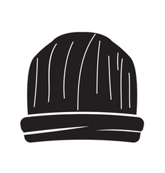 Isolated beanie image vector