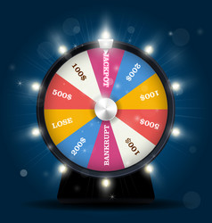 jackpot on wheel of fortune - lottery win vector image