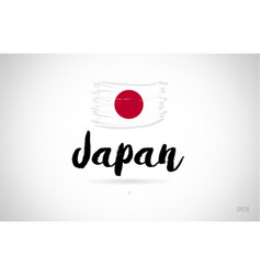 Japan country flag concept with grunge design vector