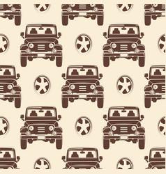 jeeps seamless pattern design - vintage seamless vector image