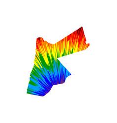 Jordan - map is designed rainbow abstract vector