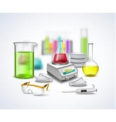 Laboratory stuff composition vector