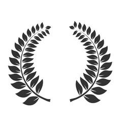 laurel wreath icon triumph and trophy symbol vector image