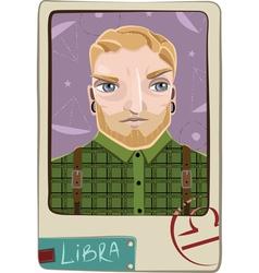 Libra man vector image