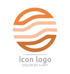 Logo Icon Circle Brown Design Symbol Abstract vector
