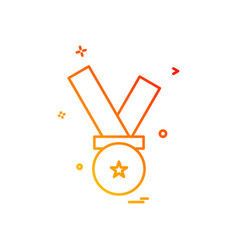medal award icon design vector image