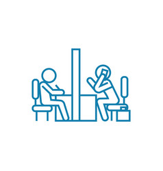 meeting room linear icon concept meeting room vector image