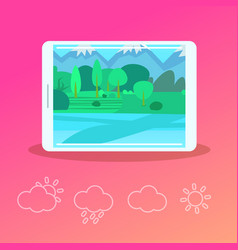 mobile weather forecast application interface vector image