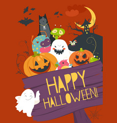 Monster friends guising trick or treat vector