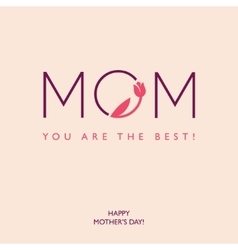 Mothers Day or Birthday greeting card vector image