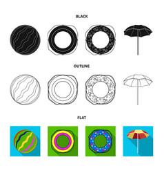 Multicolored swimming circle blackflatoutline vector