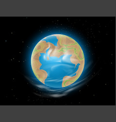 New earth outer space vector