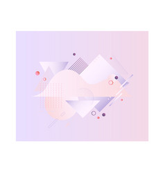 pastel banner with gradient fluid color abstract vector image