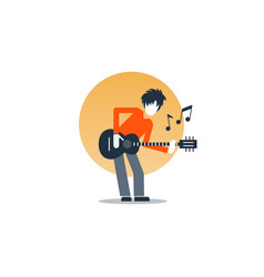 person playing guitar music entertainment live vector image