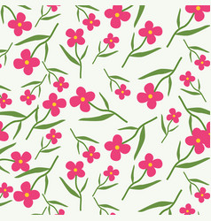 Pink western wildflowers in a spring background vector