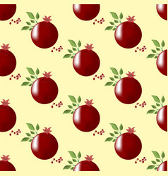 pomegranate fruit seamless pattern vector image